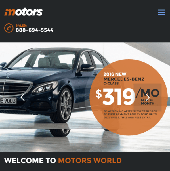 Motors – car and dealership WP theme