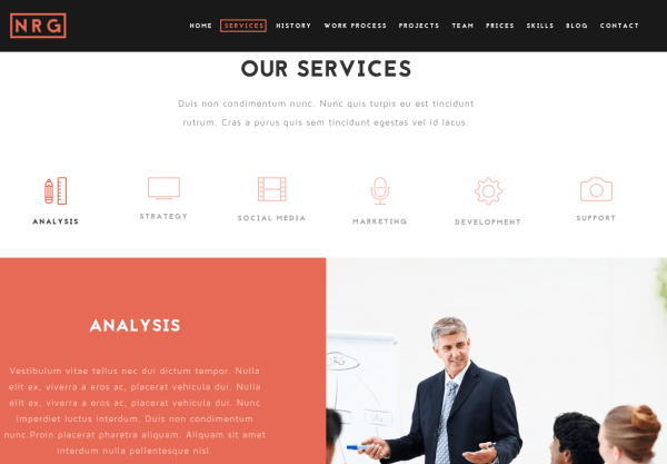 NRGbusiness Services Page