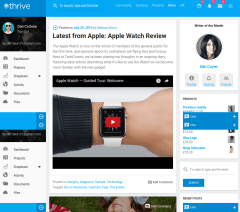 News page of Thrive