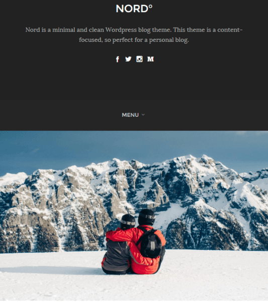 Nord – WordPress Responsive theme for bloggers