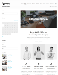 Page Left Sidebar – Gordon