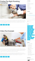 Plumbing – Blog with sidebar e
