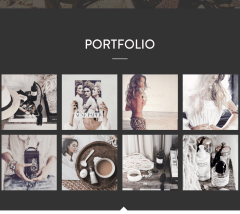 Portfolio Mountain theme