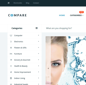 Price compare homepage