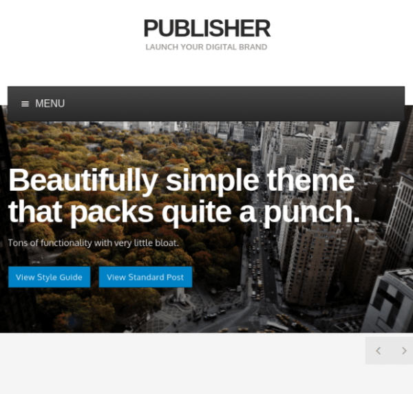 Publisher Theme