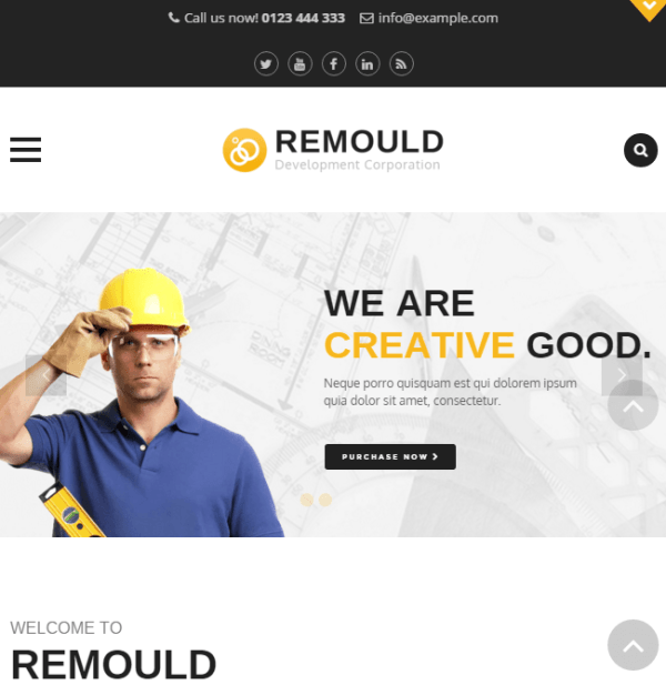 Remould - Construction and Building Responsive WordPress theme