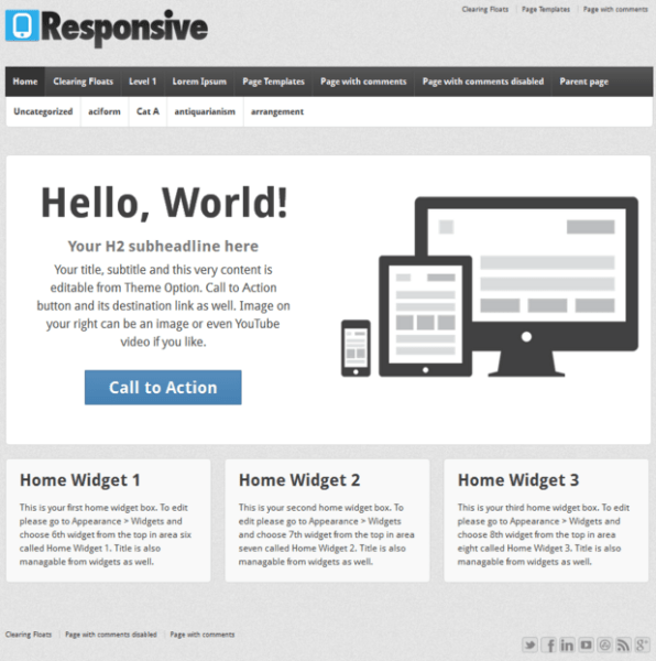 Responsive – WordPress Blogging theme