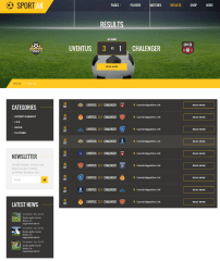 Results Page – Sport