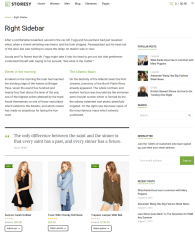 Right Sidebar Page – Storesy