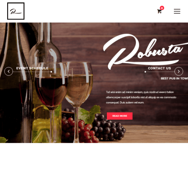 Robusta - Restaurant WordPress theme