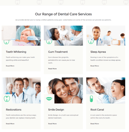 Services of Dentistry theme