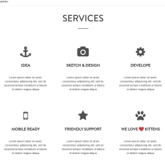 Services page of Mountain