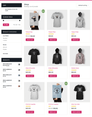 Shop Page – Transfers