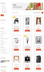Shop page of Deco Elite theme