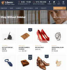 Shop page of libero