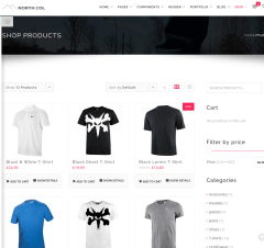 Shop page of Northcol
