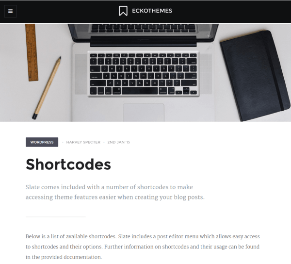 Slate-WordPress-single-page