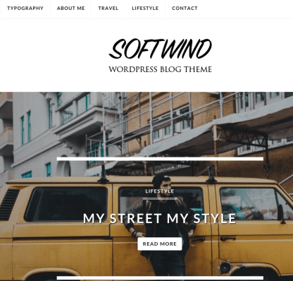 Softwind homepage