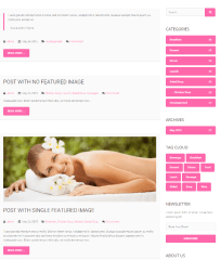 Spa – Blog page