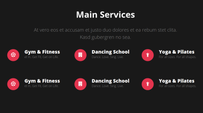 Sport Center Services Page