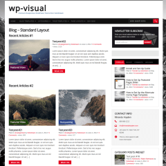 Standard Blog Layout  WP-Visual