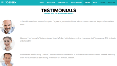 Testimonial page of jobseek