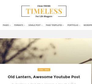 Timeless homepage