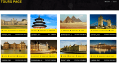 Tours page of Travelhub