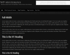 WP-Mysterious-WordPress-theme