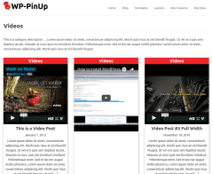 WP-PinUp Videos Page
