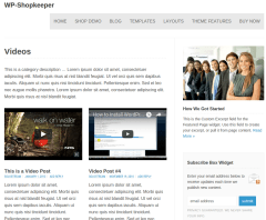 WP-Shopkeepe Videos Page