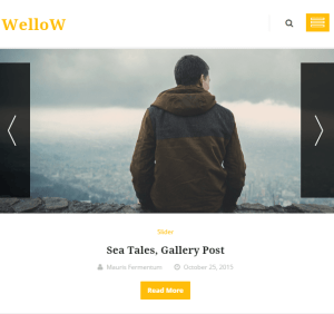 Wellow - Clean and Personal Responsive Blogging theme