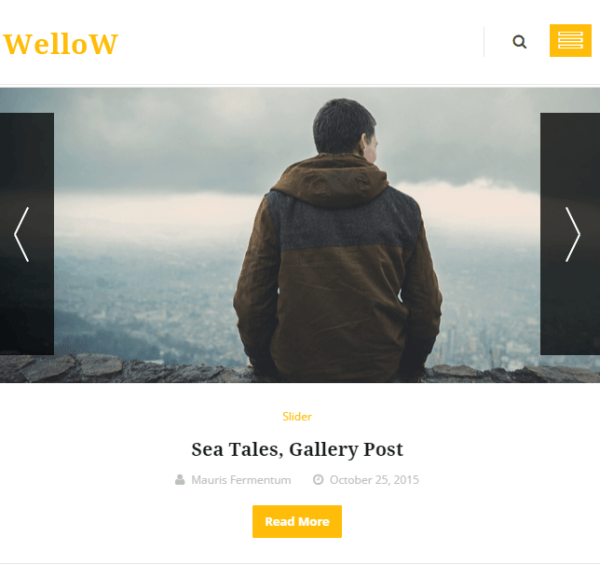 Wellow – Clean and Personal Responsive Blogging theme