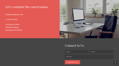 Wired Contact Us Page