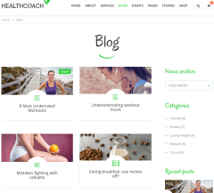 blog page of HealthCoach