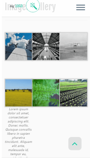 Image Gallery on Mobile