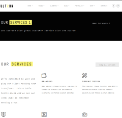 services page of Ultron Theme