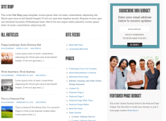 sitemap page of WP-Boundless theme
