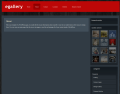 About Page of eGallery