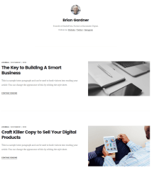 Author Page of Digital Pro