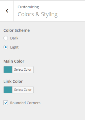 Colors and Styling options - Exodus