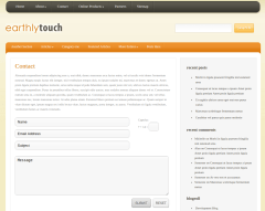 Contact Page of EarthlyTouch