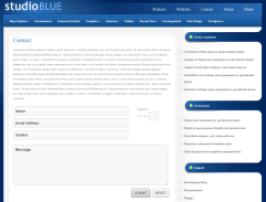 Contact Page of StudioBlue