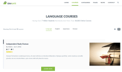 Courses Page of EduGate