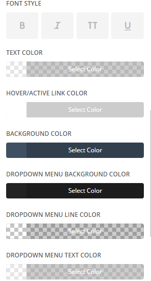 Extra - Customize Header and Navigation settings - Primary menu settings 2