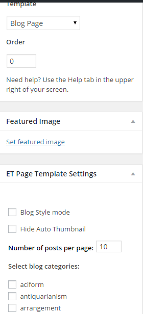 Fable - Blog template settings