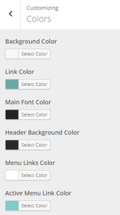 Fable - Live customizer - Colors