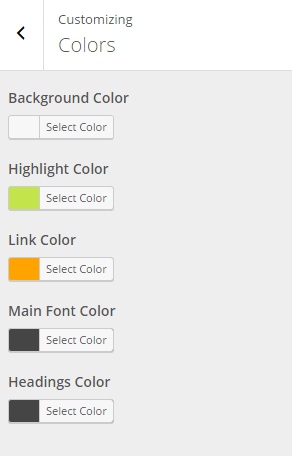 Fusion - Live Customizer - Colors
