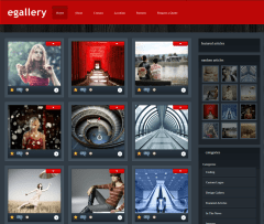 Home Page of eGallery