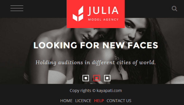 Julia – Talent Management WordPress Theme